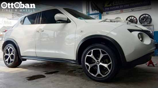 Modifikasi Velg Nissan Juke ke Velg Aftermarket, Makin Gagah