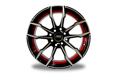 AMW Thunder Ring 15X7.0 PCD 8X100-114,3 Gloss Black MF + RIL