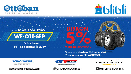 Ottoban Diskon 5% All Item Weekend Ini