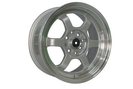 TE37 V Ring 15X7.0/8.0 PCD 8X100-114,3 ET 35 Full Silver Polish