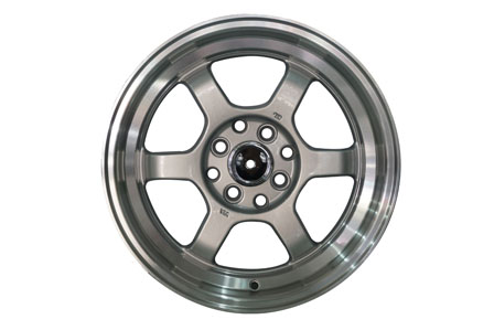 TE37 V Ring 15X7.0/8.0 PCD 8X100-114,3 ET 35 Full Silver Polish