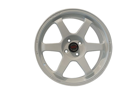 Volk Rays TE37 Saga Ring 17X7.5 PCD 4X100 ET +40 White
