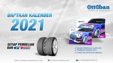 DAPATKAN KALENDER 2021 SETIAP PEMBELIAN BAN GT RADIAL DI OTTOBAN