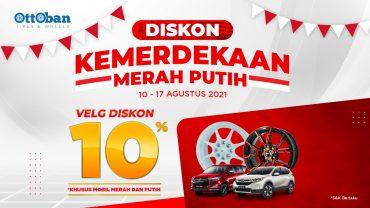 PROMO VELG MOBIL DISKON 10% | SPECIAL HARI KEMERDEKAAN INDONESIA KE-76